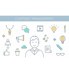 Content management and marketing vector
