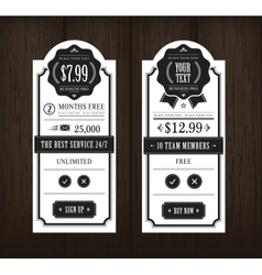 price table vector image