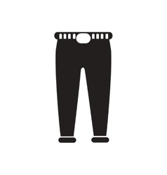 Flat icon in black and white men trousers vector