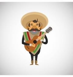 Graphic design of mexican culture vector