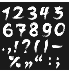 Brushed numbers white vector