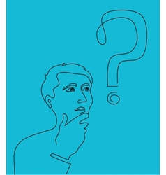 Thinking man vector image