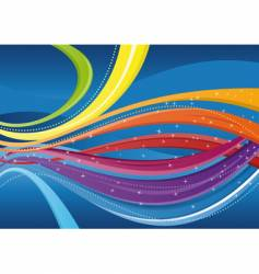 abstract background colorful waves vector image
