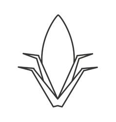 Corn plant isolated icon vector