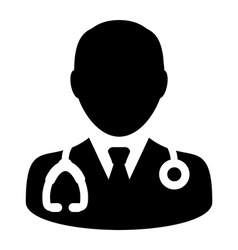 Doctor Physician Stethoscope Medical Icon vector image vector image