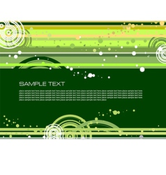 doted green background vector image