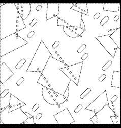 Dotted shape geometric figures memphis style vector