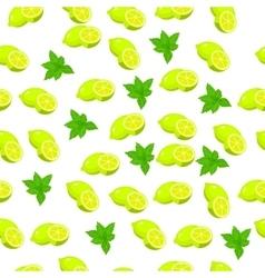 fresh mint leaves vector image