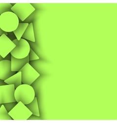 Geometric shape triangle circle square light vector image