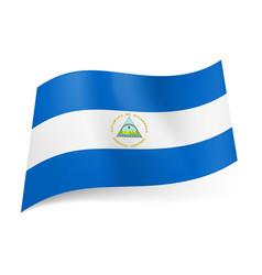 National flag of nicaragua white horizontal vector