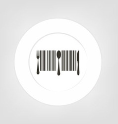 plate icon vector image