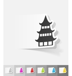 realistic design element japanese house vector image