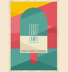 retro geometric concept for ice cream vector image