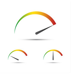 set of simple tachometer with indicators vector image vector image
