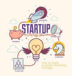 Start Up vector image