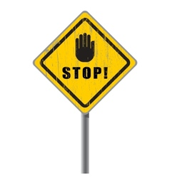 Stop scratched road sign vector image vector image