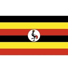Uganda flag image vector image