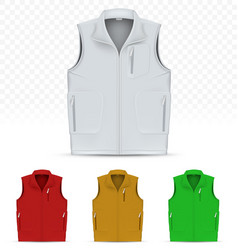 unisex vest isolated on white background vector image vector image