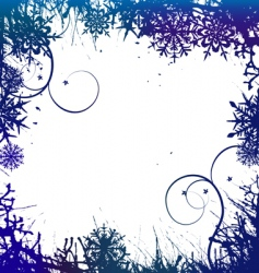 winter background snowflakes illust vector image vector image