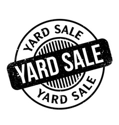 Yard sale rubber stamp vector
