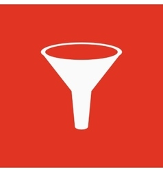 The funnel icon filtered and filter laboratory vector
