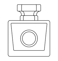 Perfume bottle icon outline style vector