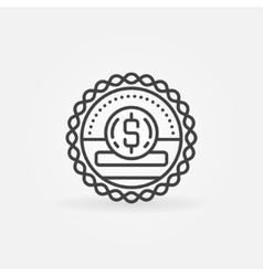 Donation and fundraising badge vector image