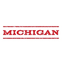 Michigan watermark stamp vector