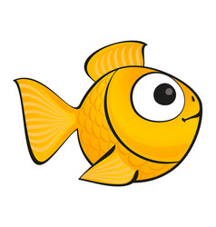 golden fish isolated vector image