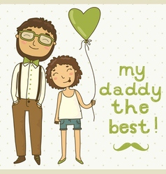 Beautiful of a father and daughter vector