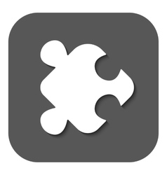 The puzzle icon Jigsaw and toy symbol Flat vector image