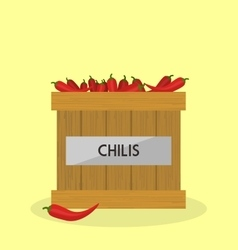 Red chilis vector