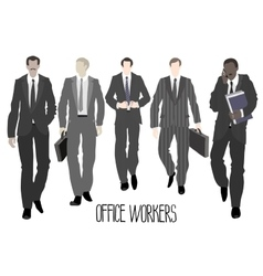 Businessmen going forward vector