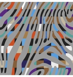 Background with colorful zebra skin pattern vector