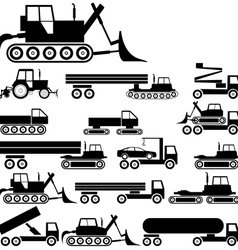 Industrial silhouettes vector