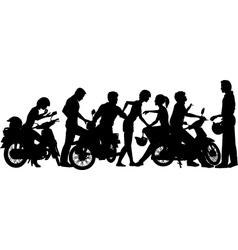 Biker youth vector image