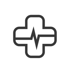Cross cardiology icon medical and health care vector