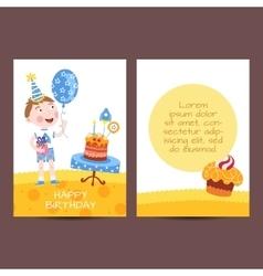 Happy birthday postcard vector