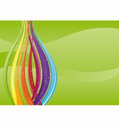 abstract background colorful waves vector image vector image