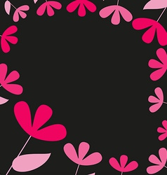 Abstract pink and red floral card vector image