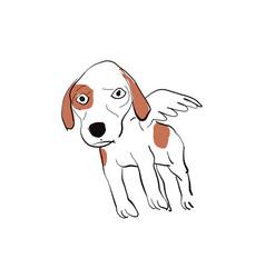 angle dog vector image