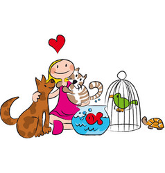 Animals children vector