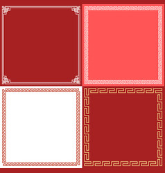 chinese frame in various style flat design vector image