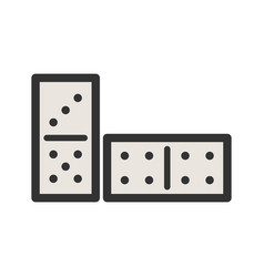 Domino game vector