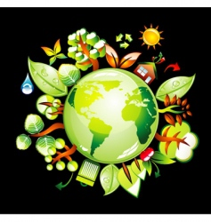 eco world vector image vector image