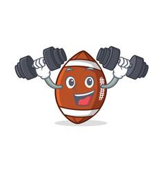 fitness american football character cartoon vector image vector image