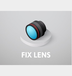 Fix lens isometric icon isolated on color vector