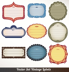 Frame labels set ornamental vintage decorat vector