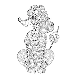Hand drawn doodle outline poodle vector image