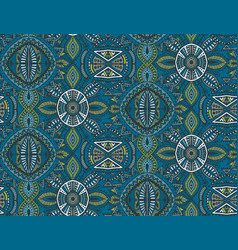 hand drawn seamless pattern with tribal vector image vector image